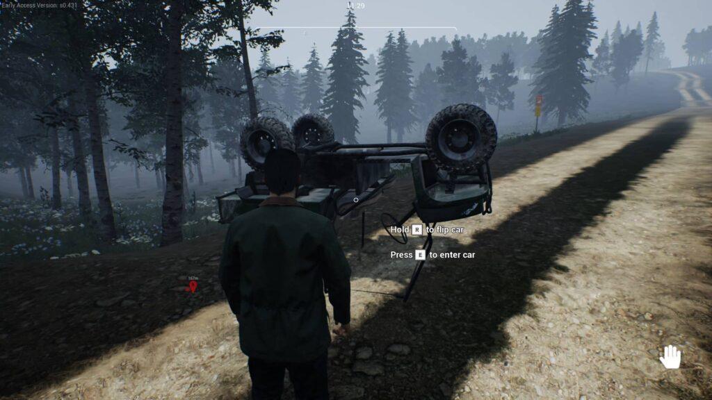 Ranch Simulator převrácené auto