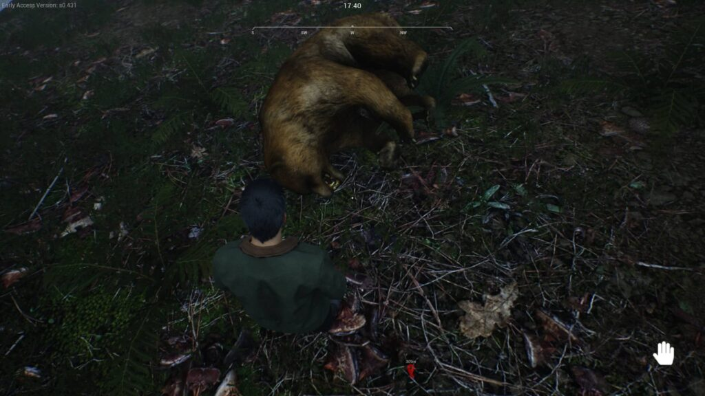Ranch Simulator ulovený medvěd