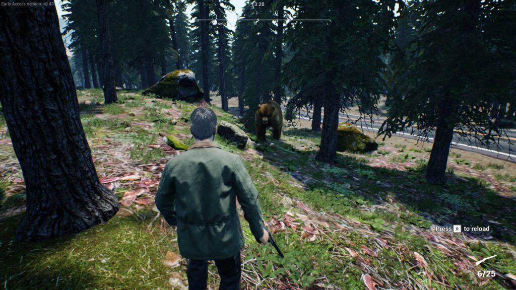 Ranch Simulator útok medvěda