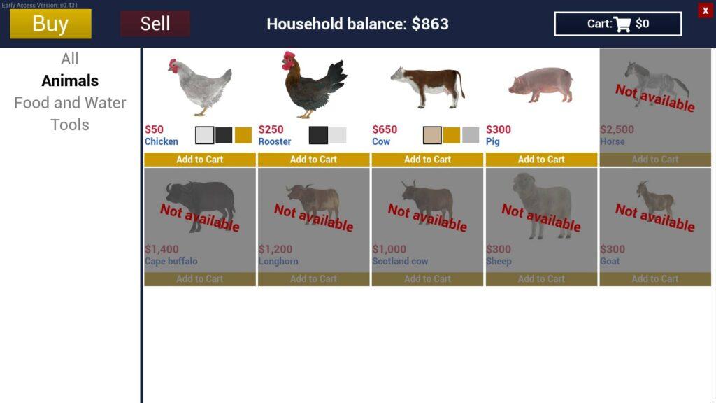 Ranch Simulator zvířata před updatem