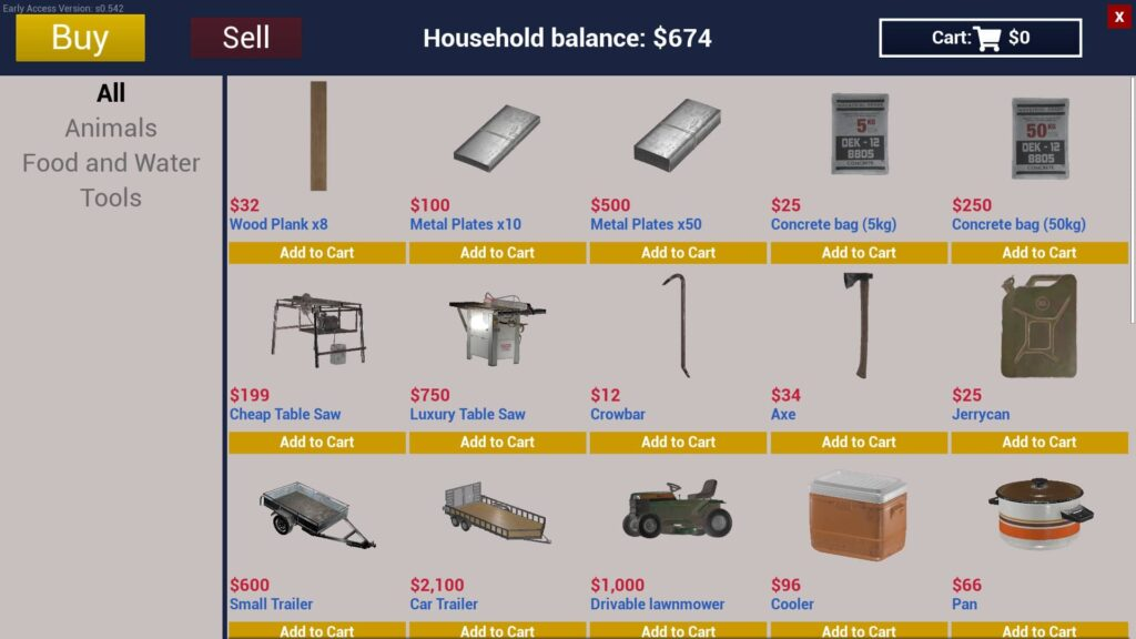 Ranch simulator nákup po updatu