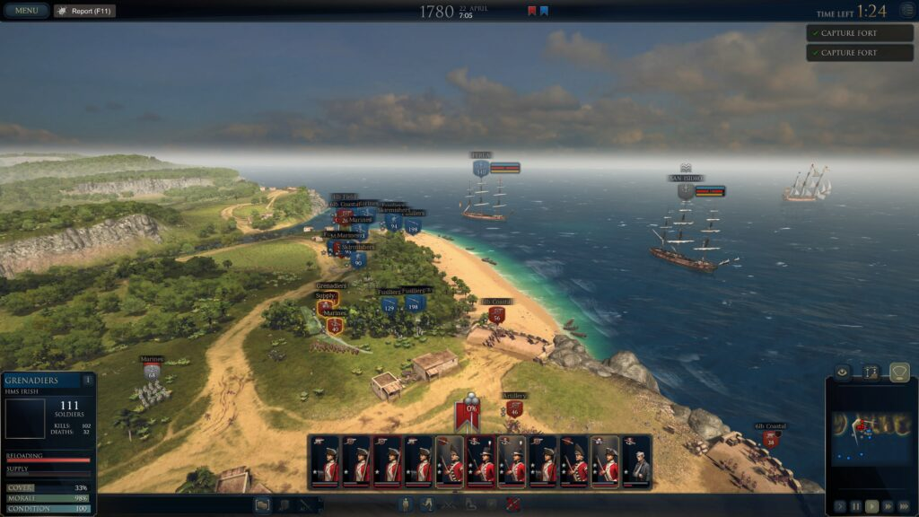 Ultimate Admiral Age of Sail big battle