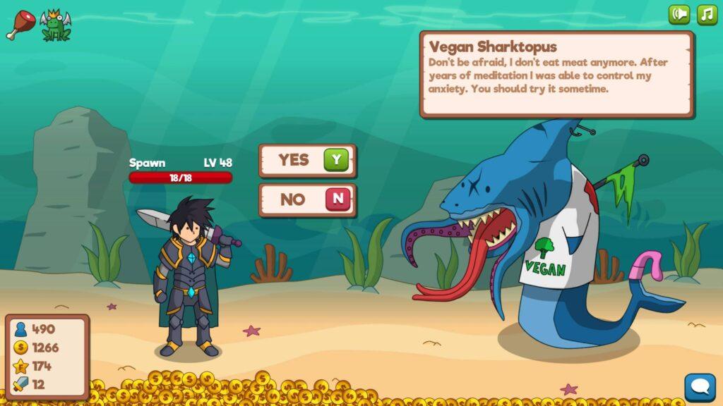 Who Needs a Hero – vegan žralok