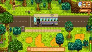 autobus ze začátku hry