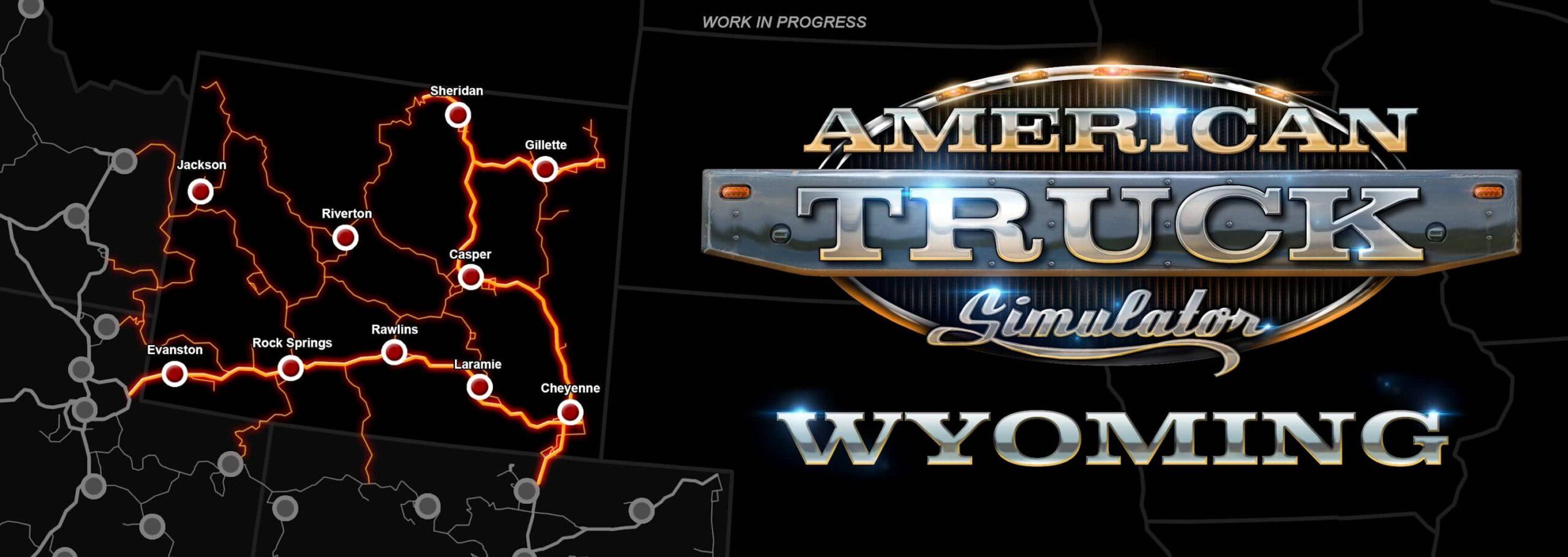 ATS Wyoming - mapa
