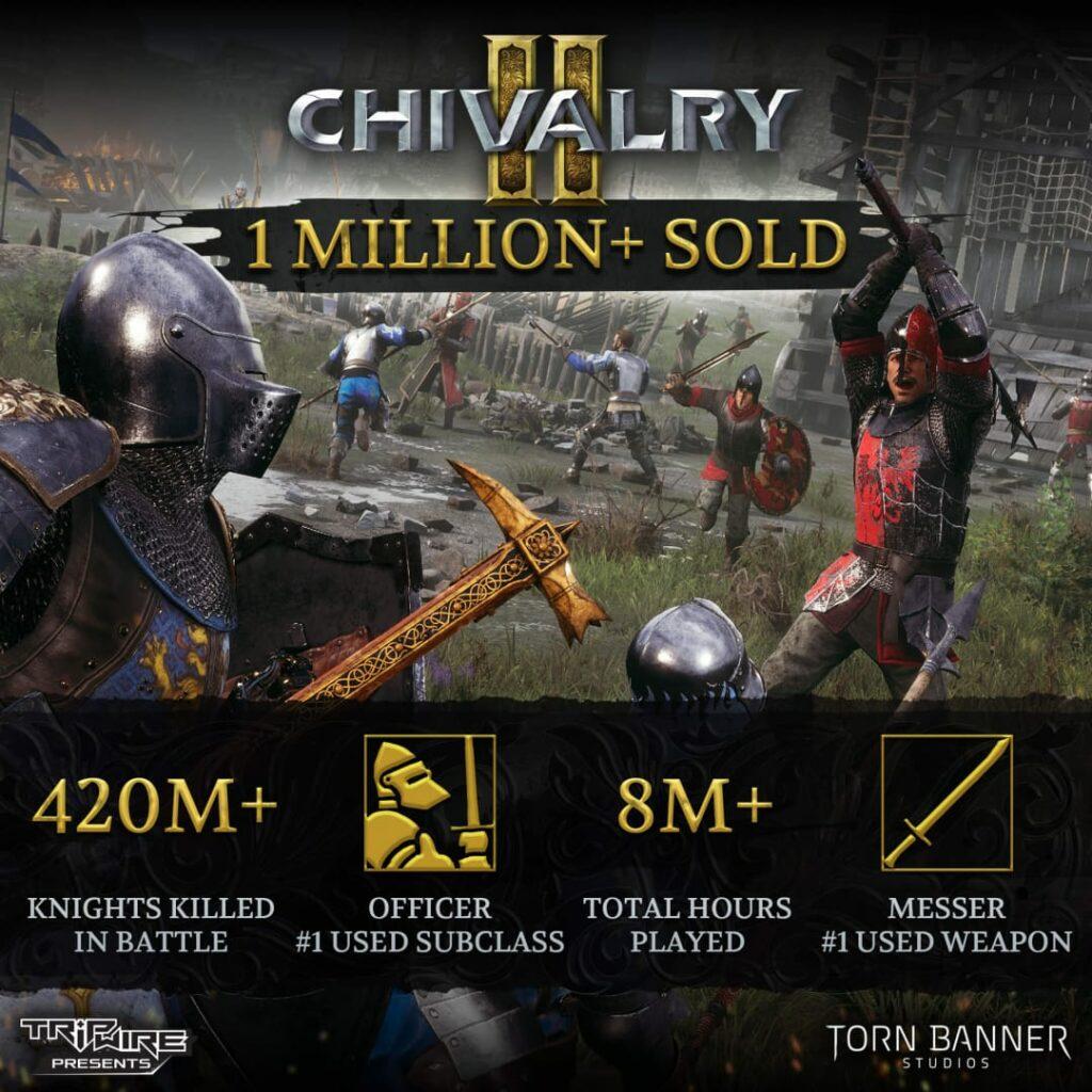 Chivalry 2 milion