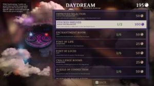 Dreamscaper – odemykání částí úrovní