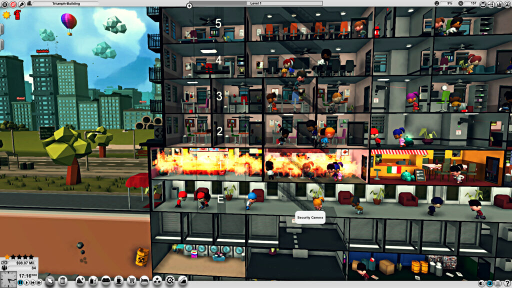 Mad Tower Tycoon fire