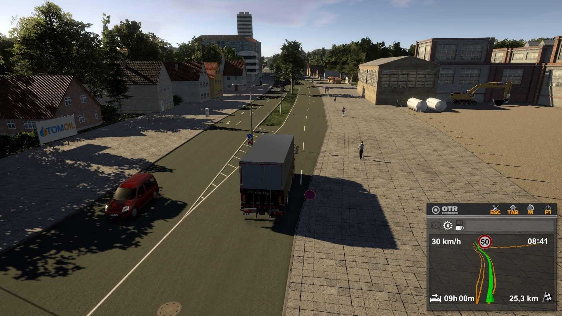 On The Road Truck Simulator - cesta do města