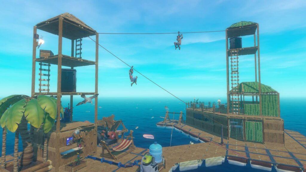 Raft - stavení