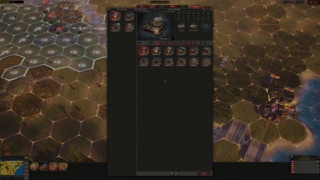 Strategic Mind Blitzkrieg unit stat