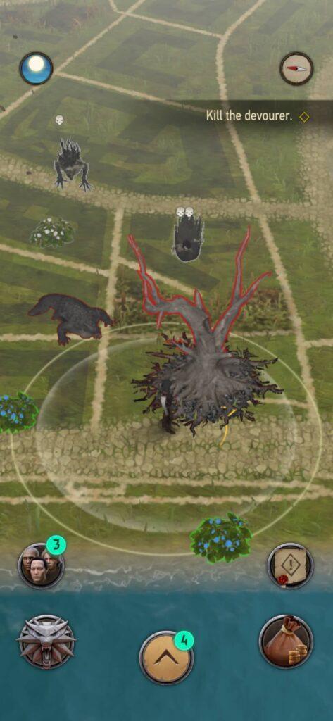 The Witcher Monster Slayer – nemeton na mapě