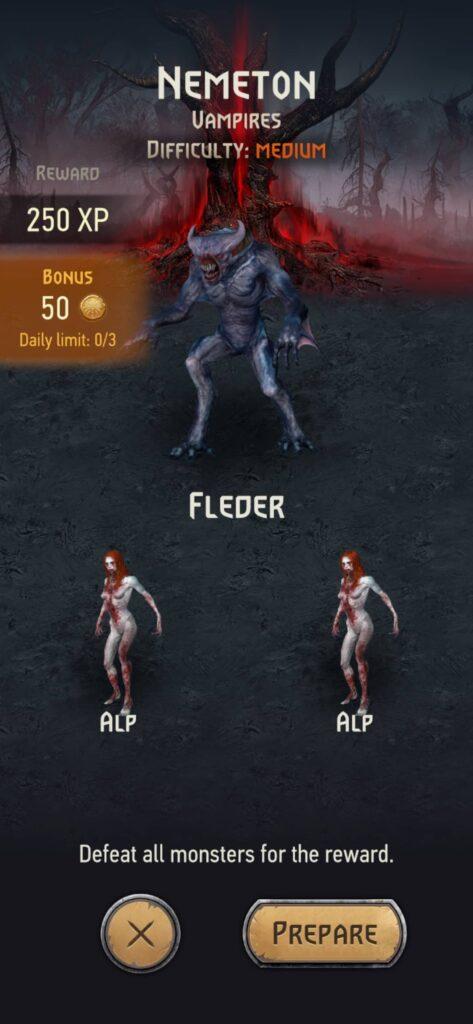 The Witcher Monster Slayer – nemeton s upíry