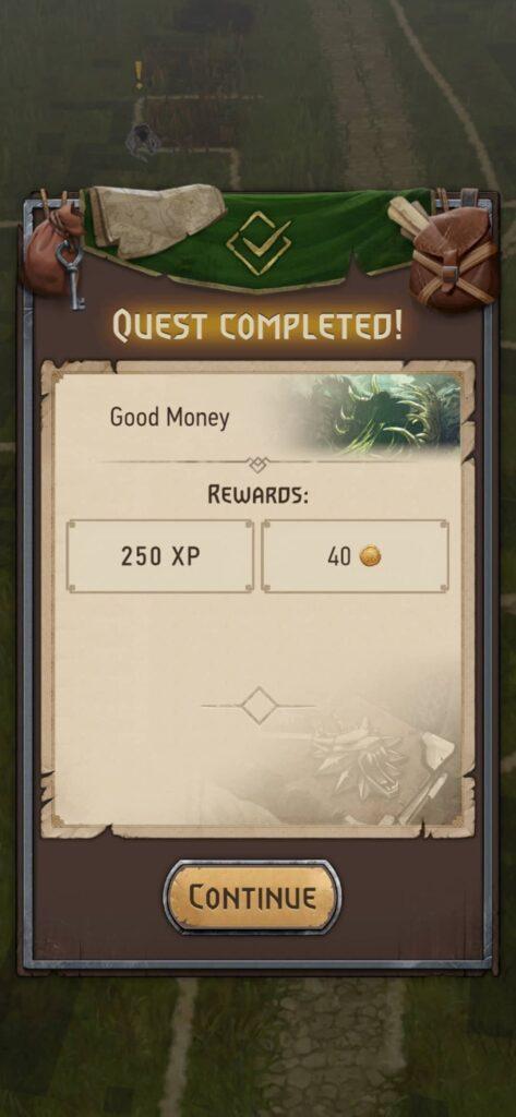 The Witcher Monster Slayer – odměna za splněný úkol