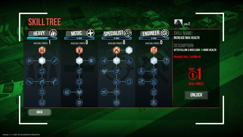 Ultimate Zombie Defense skills