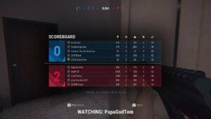 Zero Hour multiplayer tabulka