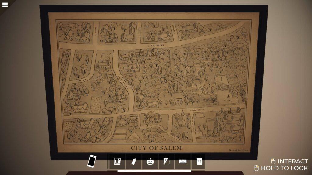 nancy drew stará mapa Salemu