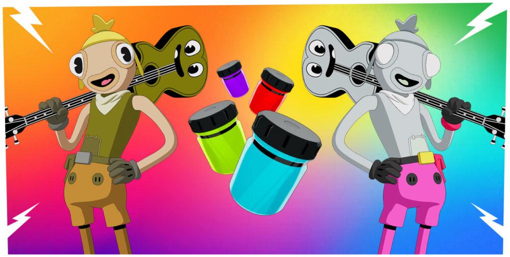 Fortnite barevné lahve
