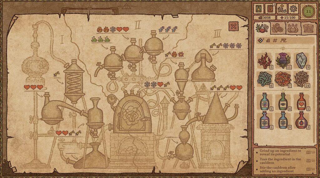 Potion Craft mapa