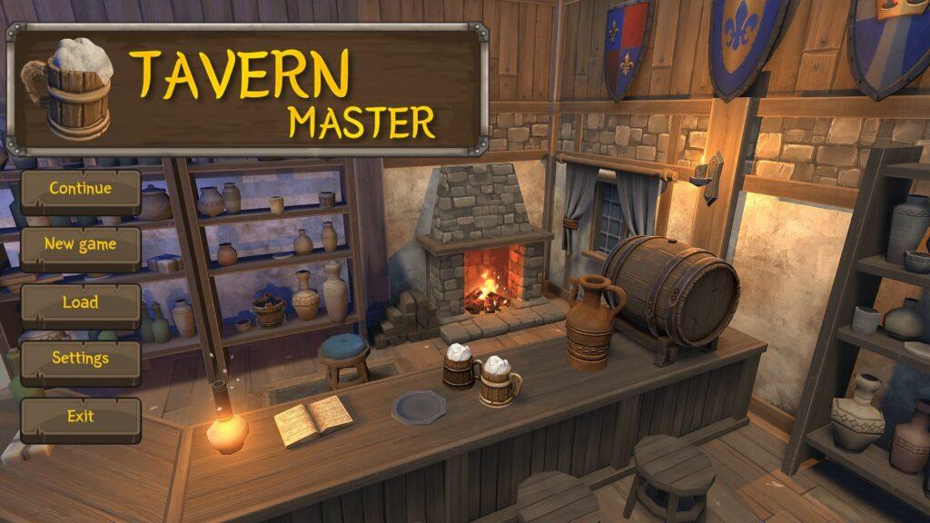 Tavern Master Hlavní obrazovka