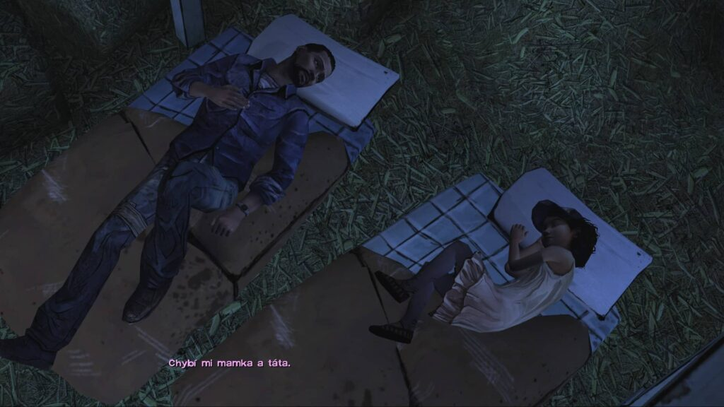 The Walking Dead Lee a Klem